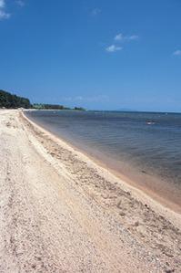 琵琶湖畔の近江白浜