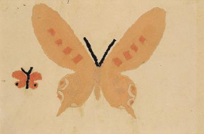 《蝶々》 貼絵 1934年