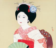 《舞妓》 北野恒富 昭和前期