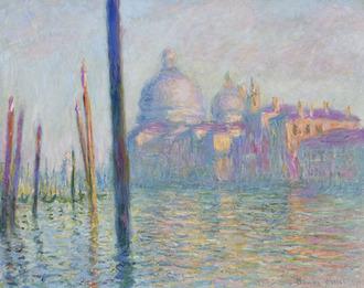 クロード・モネ《ヴェネツィアの大運河》1908年_Bequest of Alexander Cochrane 19.171