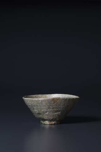 黒樂井戸型茶碗 晩雨 2015