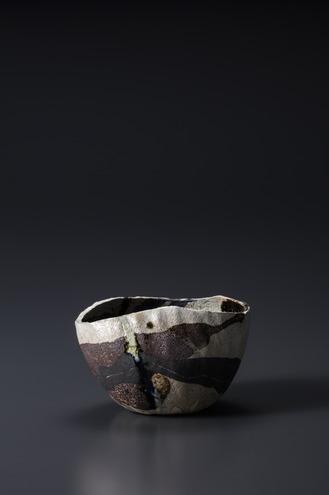 焼貫黒樂茶碗 朝初発 2002