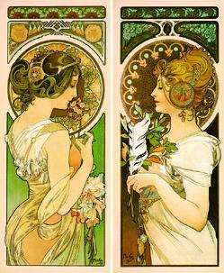 【左】《桜草》【右】《羽根》 1899年 OGATAコレクション