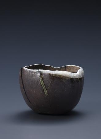 焼貫黒樂茶碗 葦舟