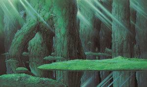 もののけ姫《シシ神の森(2)》 1997年 (C)1997 Studio Ghibli・ND