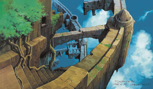 天空の城ラピュタ《荒廃したラピュタ》 1986年 (C)1986  Studio Ghibli