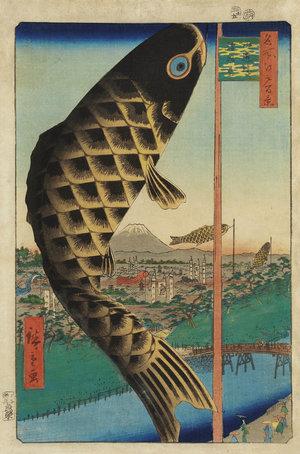 《名所江戸百景 水道橋駿河台》 1857年
