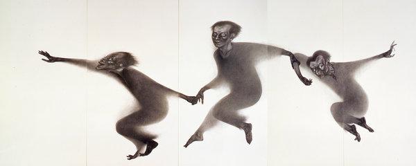 齋藤隆《西へ》1991年 250×655cm 宮城県美術館蔵