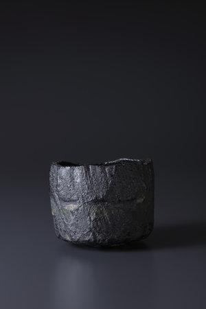 焼貫黒樂茶碗 銘 巌 2014年