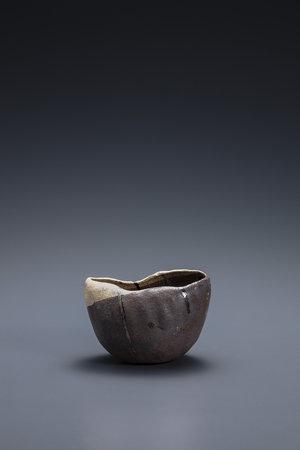 焼貫黒樂茶碗 銘 篠舟 2002年