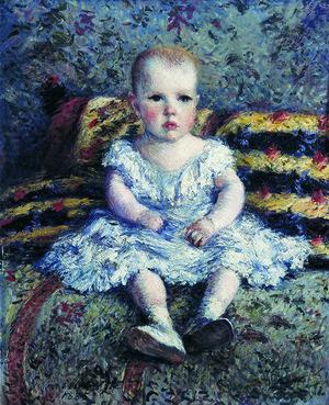 2.  ギュスターヴ・カイユボット 《子どものモーリス・ユゴーの肖像》 1885年