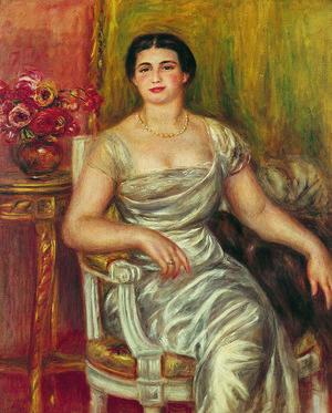 1. オーギュスト・ルノワール 《詩人アリス・ヴァリエール=メルツバッハの肖像》 1913年