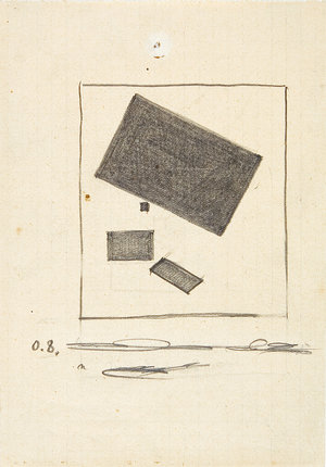 《構築 2 c 》カジミール・マレーヴィチ  1915年(展示期間:11/16-1/16)