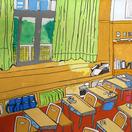 友達と楽しく学び語りあった思い出の教室